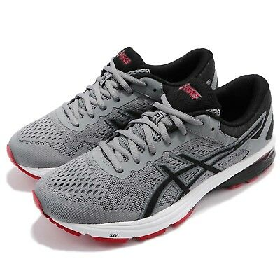 759671441c07 Asics GT-1000 6 Grey Black Red Men Gear Road Running Shoes Sneakers T7A4N-