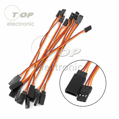 10PCS 300mm Extension Servo Lead Wire 30cm Cable For RC Futaba JR Male to Female