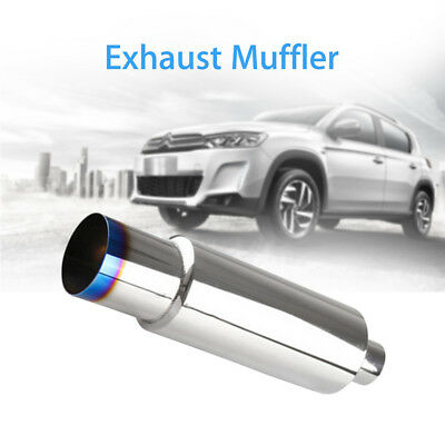 """Exhaust Muffler With Silencer For Car With 2.5"""" Diameter Inlet Easy Install New"""