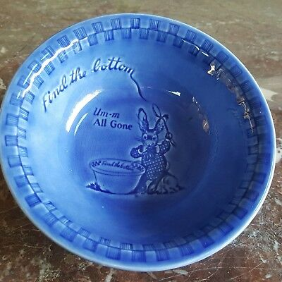 Vintage ralston purina cereal blue bowl 'find the bottom' um-m all gone