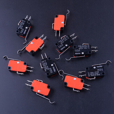 10pcs Micro Switch SPDT Hinge Roller Lever Micro Limit Switch 15A V-156-1C25