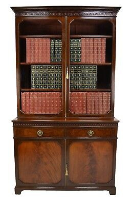 Antique / Victorian Maple & Co Mahogany Library Bookcase Circa 1890