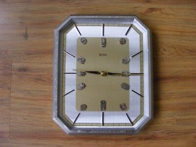 vintage ACCTIM-GERMANY wall clock with a hand made quirky twist-working order