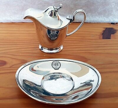 IMMC silver plated Jug & dish. White Star Line Olympic & Titanic interest