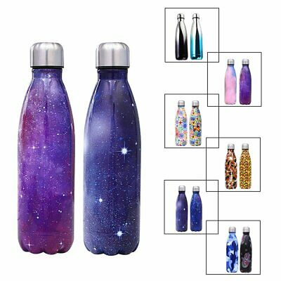 0.3-1L Stainless Steel Double Wall Vacuum Insulated Water Bottle Drinking Cup