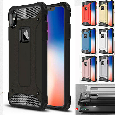 Shockproof Hybrid Armor Hard Case Rugged Rubber Bumper Cover For iPhone XSMax XR