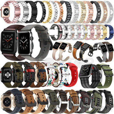 Replacement Thick Leather Watch Strap Band for Apple watch Series 4 40MM / 44MM