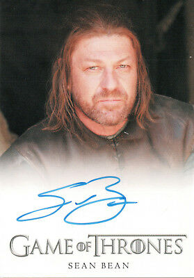 Game of Thrones Series Four, Sean Bean 'Ned Stark' Autograph Card
