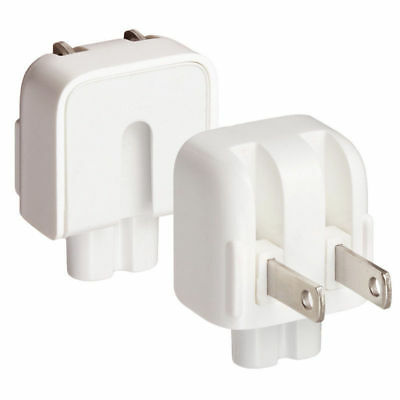 White US AC Power Adapter Charger Wall Plug Duck Head for Apple Macbook Pro Air