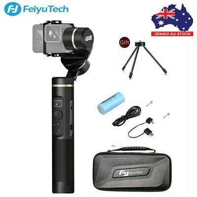 AU Feiyu G6 Plus 3-Axis Splash Proof Gimbal Stabilizer F Gopro Camera Smartphone