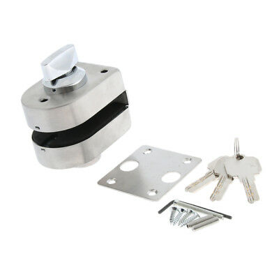 Stainless Steel Antitheft Security Glass Door Lock for 10-12mm Thickness