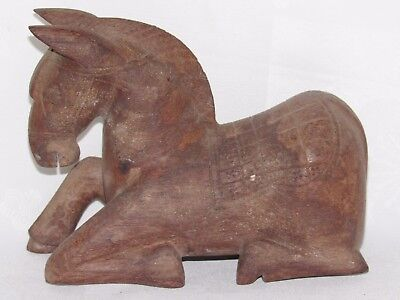 06B60 Art Ethnic From Perú Bolivia - Horse Wooden Carved America The South