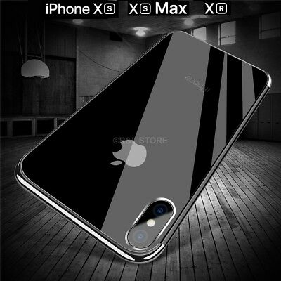 COVER per Apple Iphone XS / Max / XR CUSTODIA TPU SILICONE ELECTROPLATING SLIM