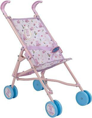 Kids Children Peppa Pig Dolls Buggy Stroller Pushchair Pram Girls Toy Brand New