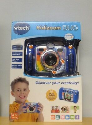 "VTECH Kidizoom DUO Blue Children's 2.4"" Screen Digital Camera Open Box"