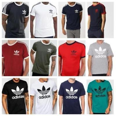 Adidas Originals Mens California tee/Trefoil tee Crew Neck Short Sleeve T-Shirt