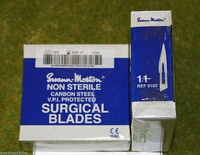Box of 100 Spare Blades for Swann Morton Scalpels no 11