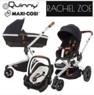 Quinny Moodd Rachel Zoe 3 In 1 Carrycot Pebble Plus Car Seat Maxi Cosi Limited