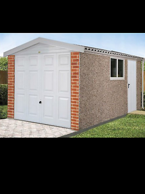 "Concrete Sectional Garages,Garages,Sheds,DELUXE APEX  GARAGES 16FT 3"" X 8FT 6"""