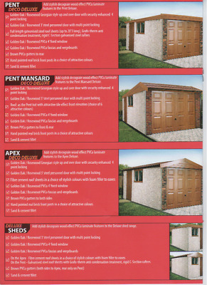 "Concrete Sectional Garages,Sheds,DECO DELUXE APEX  GARAGES 16FT 3"" X 8FT 6"""