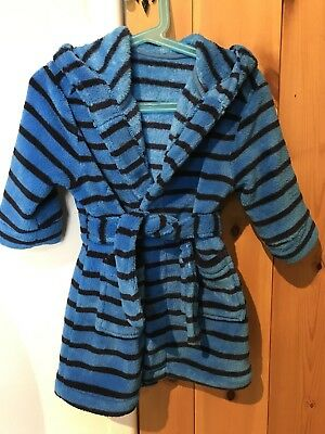 Boys Mothercare hooded dressing gown robe 12-18 months