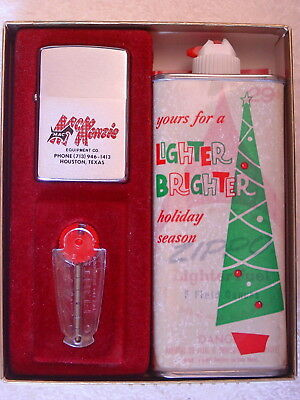Boxed Gift Set With Fuel Can - MAC Scottish Terrier Dog Graphics 1975 Zippo MIB