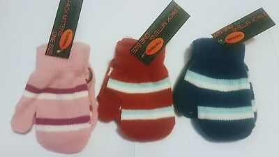Baby Mittens, 2 Pack, Thermal, One size, Babies, Mittens