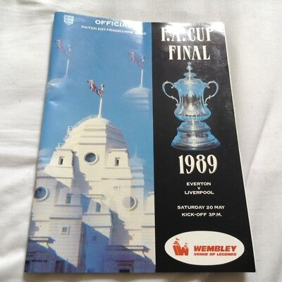 Everton FC v Liverpool FC - 1989 FA Cup Final Official Programme