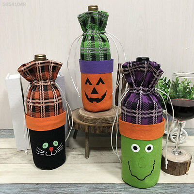 5916 Beautiful Wine Bottle Bag Non-Woven Fabric Halloween Stack Bag Kitchen