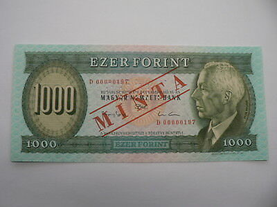 Ungarn  1000 Forint MUSTER 1993   UNC Serie  D