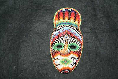 Small Mexican Huichol beaded mask