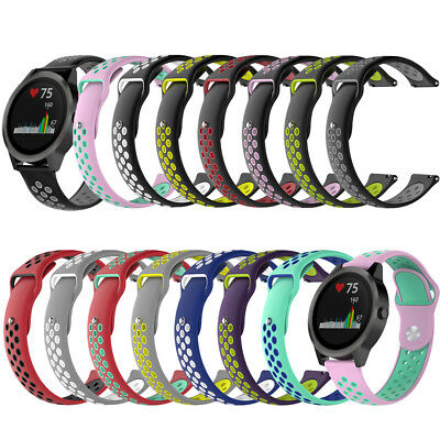 Silicone Watch Band Wristband Bracelet Strap for Garmin Vivoactive 3 Vivomove HR