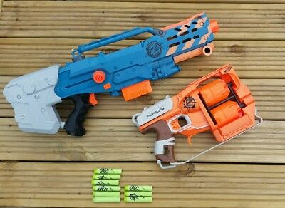 Nerf Zombie Strike - Longshot CS-6 and zombie flipfury with Ammo