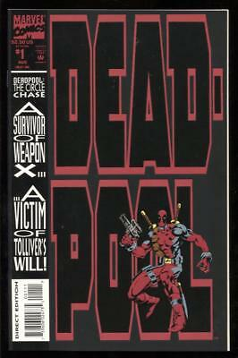 Deadpool (1993) Circle Chase #1 Embossed Cover 9.4 Nm 1St Print