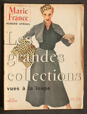 'marie-France' French Vintage Magazine Collections Issue 31 August 1953