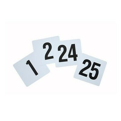 """Winco Plastic Table Number Set 1-25 4""""X3.75"""" 