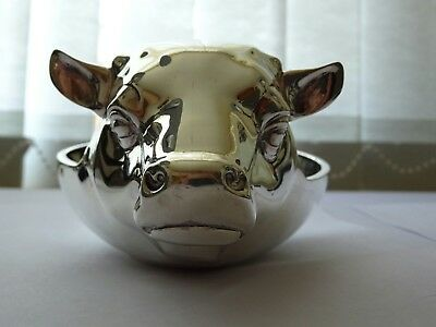 Solid silver bull bowl from the Liverpool football friendly in 1974 very rare.