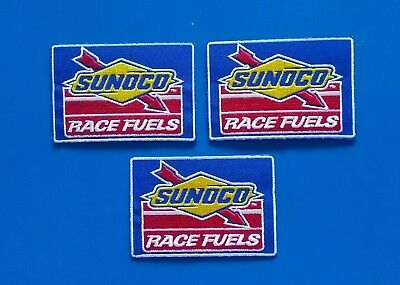 3 SUNOCO RACE FUEL GAS OIL Embrodered Iron Or Sewn On UNIFORM  Patches Free Ship