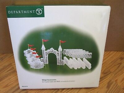 Department 56 Village Accessories Ice Crystal Gate & Walls New In Box #56.56716