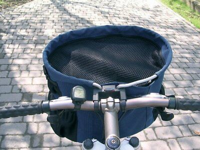 Walky Basket Pet Dog Bicycle Bike Basket & Carrier Easy Click Mounting - Up to 1