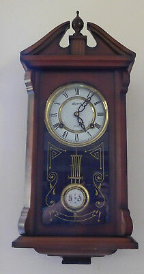 Vintage Alaron 31 Day Wall Chime Clock Made in Korea Working