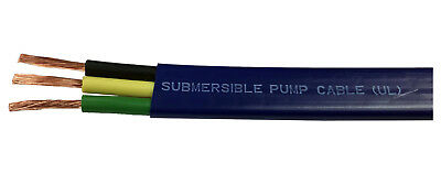 250Ft 12-Gauge 2-Wire + Ground Flat Double-Jacketed Submersible Pump Cable UL