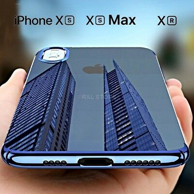 COVER per Apple Iphone XS / Max / XR CUSTODIA Slim Silicone CLEAR Shockproof TPU