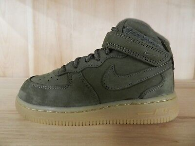 NIKE AIR FORCE 1 Mid Wb Medium Olive Baby Toddler Shoes Td