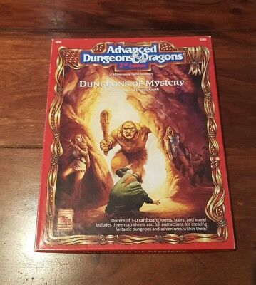 AD&D 2nd DUNGEONS OF *MYSTERY* Box-Set 3 Dimensional Game Accessory GR2 TSR 9365