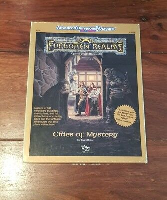 AD&D CITIES OF MYSTERY TSR 9262 FR 8 Advanced Dungeons & Dragons 2nd Box-Set