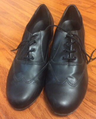 Great So Danca Jazz Dance Classic Oxford Shoes Black Women 10 1/2L Men 8 1/2 Nr!