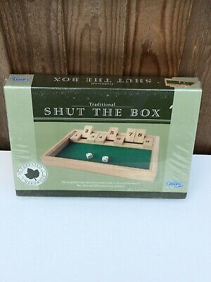 Traditional Shut The Box Game By Gibsons Brand New.