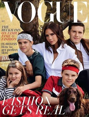 Vogue Magazine Uk Victoria Beckham October 2018 David Beckham Photo