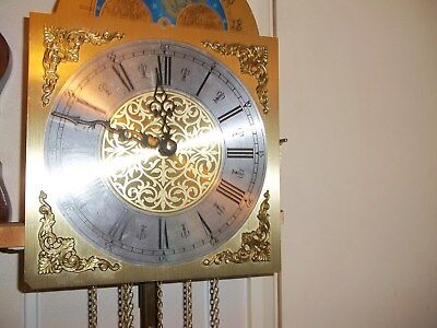 Quarter Chiming Grandfather Clock Movement Franz Hemle in very good condition .